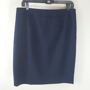 Pendleton Wool Career A-line Pencil Skirt 12P Navy